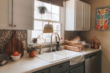 spring clean tidy kitchen lifestyle